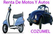 renta de autos y motos en cozumel